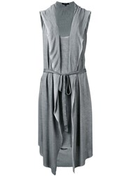 Unconditional Hooded Tail Dress Women Rayon M Grey