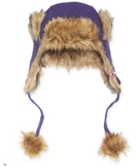 Helly Hansen Women's Bearfur Faux Fur Trapper Hat Nordic Purple