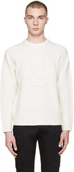 Burberry White Wool Bexhill Sweater