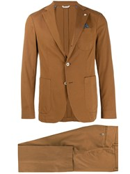 Manuel Ritz Classic Two Piece Suit Brown