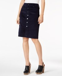 Jag Corduroy Pencil Skirt Midnight