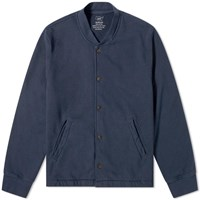 Save Khaki French Terry Warm Up Bomber Jacket Blue