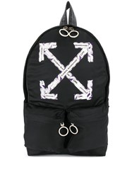 Off White Airport Tape Diagonal Arrows Backpack 60