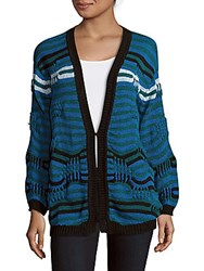 Sandro V Neck Knit Cardigan Mallard Green