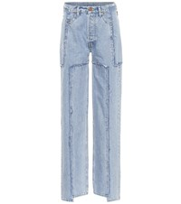 Vetements X Levi's High Rise Wide Leg Jeans Blue