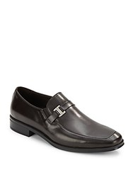 Bruno Magli Pivetto Leather Loafers Dark Brown