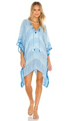 Michael Stars X Revolve Pom Trimmed Cover Up In Blue.