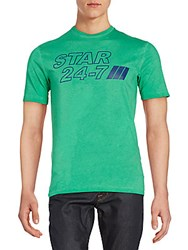 Dsquared Star 24 7 Graphic Cotton Tee Green