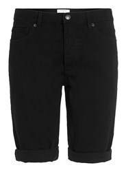 Topman Black Skinny Denim Shorts