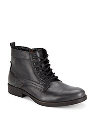 Steve Madden Lace Up Leather Boots Black
