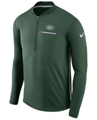Nike New York Jets Coaches Quarter Zip Pullover Green