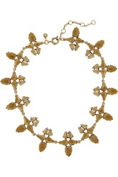 J.Crew Radiant Gold Plated Crystal Necklace