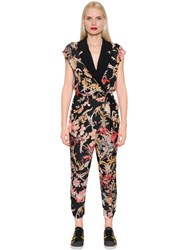 I'm Isola Marras Floral Printed Light Crepe Jumpsuit