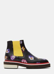 Christopher Kane Pansy Chelsea Boots Black
