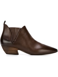 Marsell Marsell Pointed Toe Ankle Boots Brown