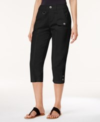 Styleandco. Style And Co. Cargo Capri Pants Only At Macy's Deep Black