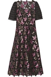 Marc Jacobs Sequin Embellished Guipure Lace Dress Plum