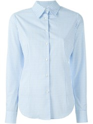 Alberto Biani Gingham Check Shirt Blue