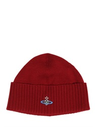 Vivienne Westwood Logo Embroidered Wool Beanie Hat
