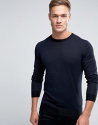Jack And Jones Premium Jumper In Stripe Navy