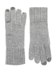 Lord And Taylor Cashmere Tech Gloves Grey
