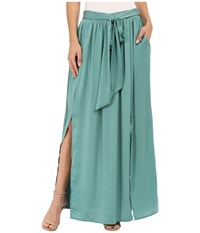 Bobeau Rosemary High Slit Maxi Teal Women's Skirt Blue