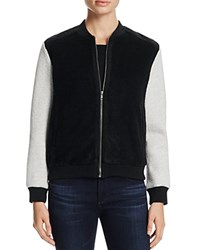 Cupcakes And Cashmere Tompkins Color Block Knit Bomber Jacket Black