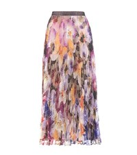 Christopher Kane Pleated Lace Skirt Multicoloured