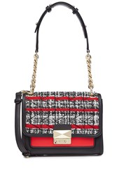 Karl Lagerfeld Shoulder Bag With Leather And Tweed