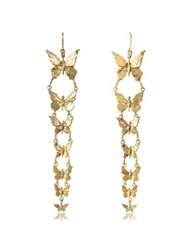 Bernard Delettrez Butterflies Bronze Earrings Gold
