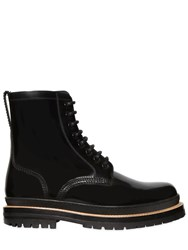 Burberry Polished Leather Lace Up Boots