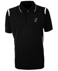 Antigua San Antonio Spurs Merit Polo Shirt Black