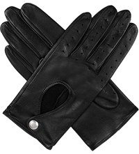 Dents Leather Keyhole Driving Gloves Black