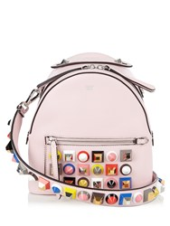 Fendi Stud Embellished Leather Cross Body Bag Light Pink