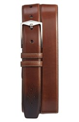 Mezlan Men's 'The Diver' Belt Cognac
