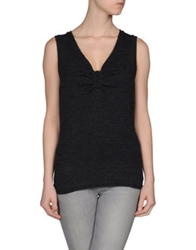 Dandg D And G Sleeveless Sweaters Grey