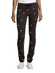 Wildfox Couture Star Printed Fitted Pants Clean Black