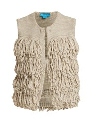 Mih Jeans Woodstock Loop Stitch Knit Gilet Light Grey
