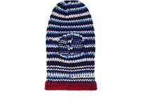 Calvin Klein 205W39nyc Stockinette Stitched Wool Balaclava Navy Royal Blue Off White