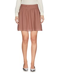 Maison Scotch Mini Skirts Dove Grey
