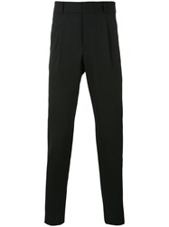 Saint Laurent Slim Cut Trousers Men Viscose Virgin Wool 52 Black