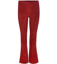 Stouls Maxime Suede Cropped Trousers Red