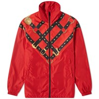 Versace Harness Nylon Track Jacket Red