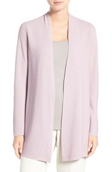 Eileen Fisher Women's Organic Cotton Long Straight Cut Cardigan Sea Lavender