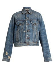 R 13 Raglan Trucker Distressed Denim Jacket