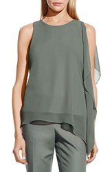 Women's Vince Camuto Sleeveless Top With Asymmetrical Chiffon Overlay Sage