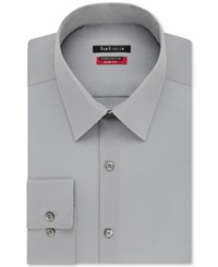 Van Heusen Men's Slim Fit Flex Collar Twill Dress Shirt Grey Mist