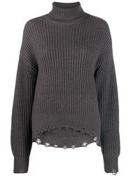 Iro Knitted Ribbed Jumper Grey