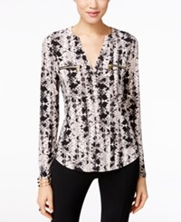 Inc International Concepts Printed Zip Pocket Blouse Only At Macy's Charmed Snake