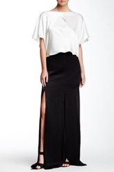 Abs By Allen Schwartz Car Wash Maxi Skirt Black